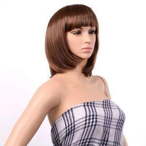 Light brown bob wig with bangs - NWT